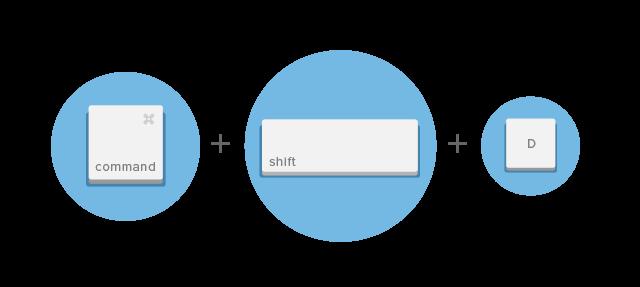 Shift-Command-D