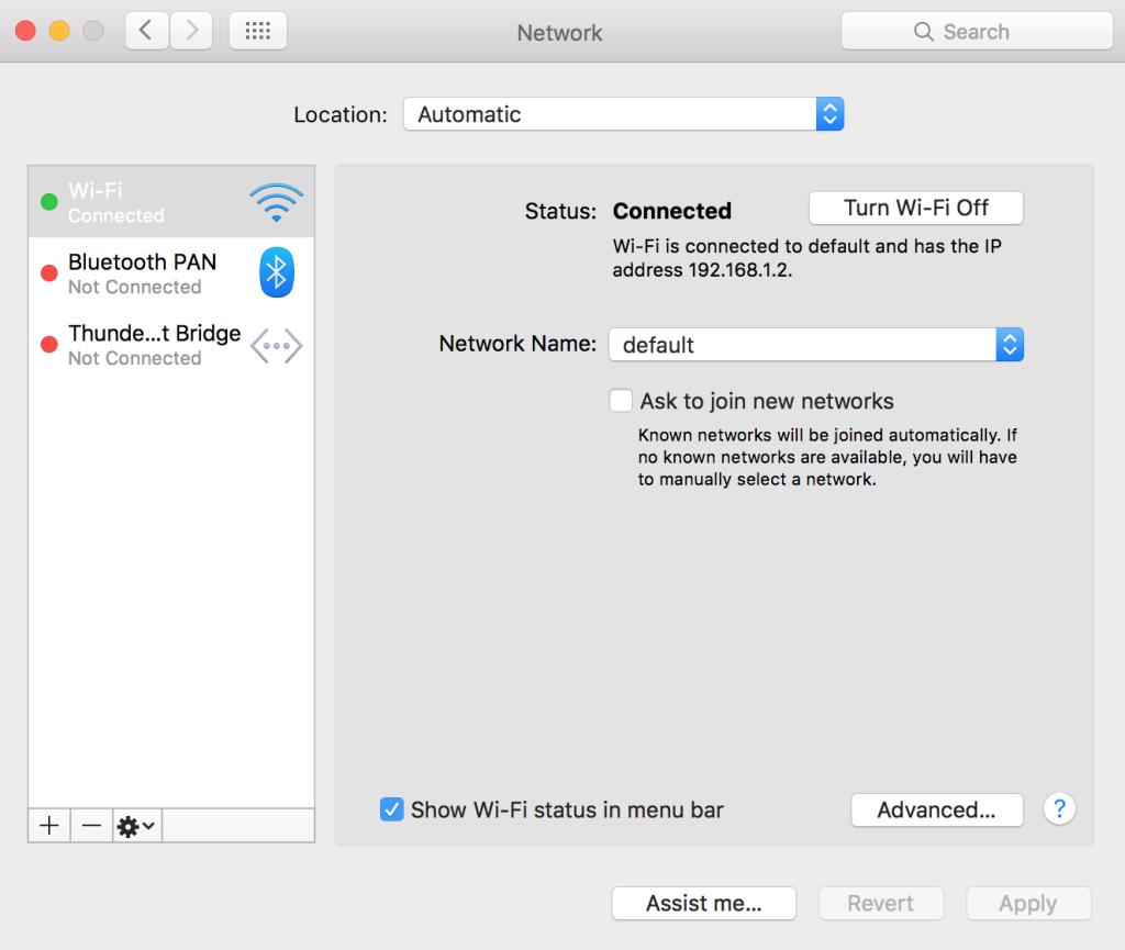 Wi-Fi Preferences